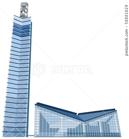 Akitako Port Tower Image Sightseeing Area Illustration Icon 58881629