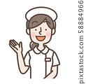 白大衣女簡單護士帽可用 58884966