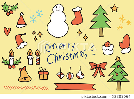 Hand drawn christmas illustration 58885064