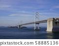 Seto Ohashi Bridge seen from the Seto Ohashi Memorial Park 58885136