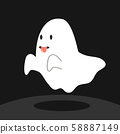 Ghost with tongue vector illustration 58887149