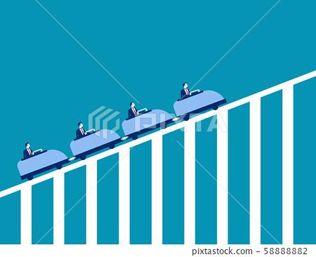 Roller coaster economy. Concept business vector 58888882