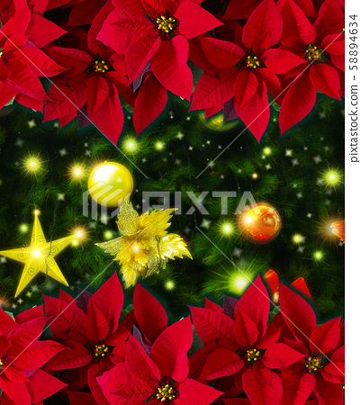 神聖的紅色,神聖的一天,,樹,聖誕節紅色,聖誕節,聖誕樹,聖誕節 58894634