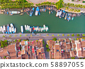 Aerial view of Hoi An ancient town in Vietnam. 58897055