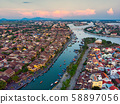 Aerial view of Hoi An ancient town in Vietnam. 58897056