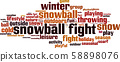 Snowball fight word cloud 58898076