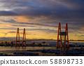 Nagoya Port Kinjo Pier Sunset Sky 58898733