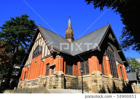 10 월 미나토 구 84 고딕 풍 성당 메이지 학원 58900851