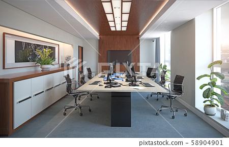 Modern Office Interior Design Stock Illustration 58904901 Pixta