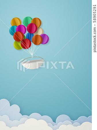 Papercraft天空雲氣球 58905291