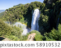 Top view of the Cascata delle Marmore, in Italy 58910532