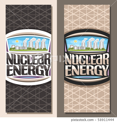 Vector vertical banners for Nuclear Energy 58911444