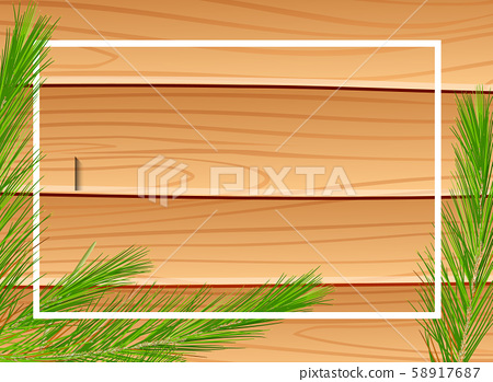 Border template with wooden background 58917687
