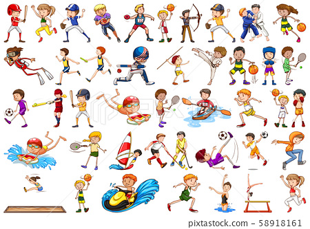 Sport activities by boys, girls, kids, athletes 58918161