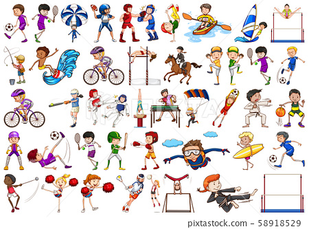 Sport activities by boys, girls, kids, athletes 58918529