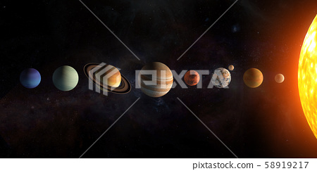 Solar system planets set. Elements furnished by NASA 58919217