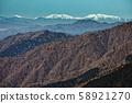 南部阿爾卑斯山,荒川山,赤石山和富士山。 58921270