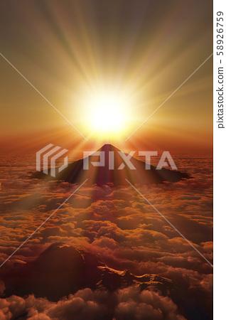 Sunrise of Mt. Fuji 58926759
