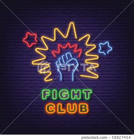 fight club neon signboard 58927454