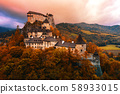 Orava medieval castle, morning light, Slovakia, 58933015