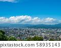 夏季的藍天和北九州市地區[福岡縣北九州市] 58935143