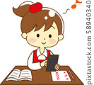 Child going to the desk 58940340