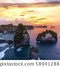 Early morning sunrise with Vew of cliff Nusa 58941288