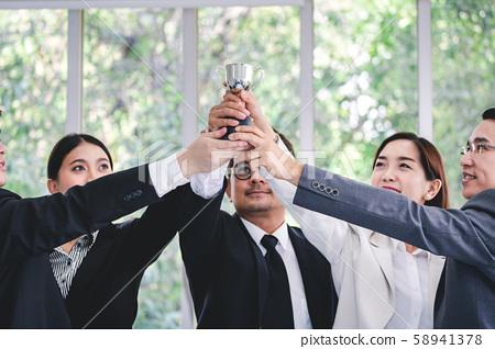 Winner business team 58941378