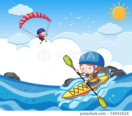 Children Doing Summer Sport Activity 58942628