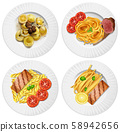 A Set of Delicious Food 58942656