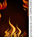 A Hot Fire Frame Tempate 58942685