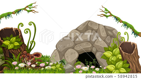 A Stone Cave in Nature 58942815