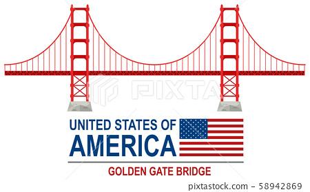Golden gate bridge america 58942869