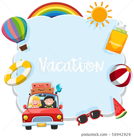 A Template of Vacation Tourist 58942929