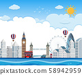 London cityscape on river 58942959