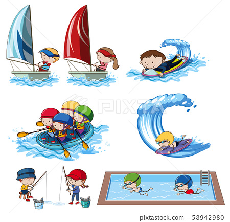 A Set of Water Activities 58942980
