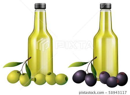 Black and Green Olive Oil 58943117