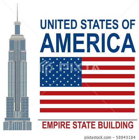 American Empire State Building illustration 58943184