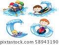 Doodle Kids with Water Sport Activities 58943190
