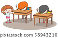 Doodle Young Students in Classroom 58943210