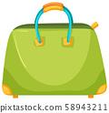 A Green Fashionable Female Handbag 58943211