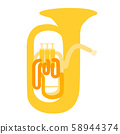 Euphonium vector illustrations orchestra brass band brass band music 58944374