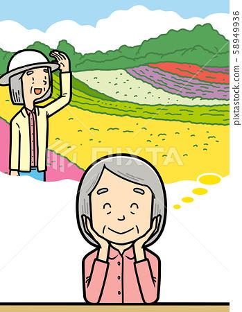 插图 老人 祖母 旅行  58949936
