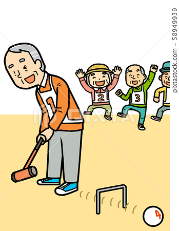 Illustration | Elderly | Gateball | Grandpa 58949939