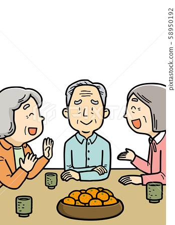 插图|老人|说话|爷爷|奶奶 58950192