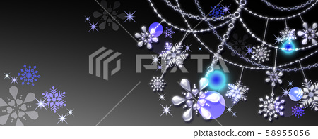 Snow crystal ornament 3D jewelry_other colors, variations available 58955056