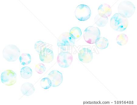 Watercolor illustration Shabondama background horizontal 58956488
