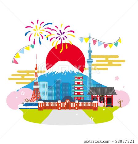 日本城市景觀圖像圖 58957521