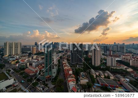 新加坡城市景觀/夜景 58961677