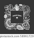 Green vegetables design template. Hand drawn 58961729